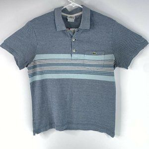 Lacoste Two Tone Striped Short Sleeve Polo Shirt